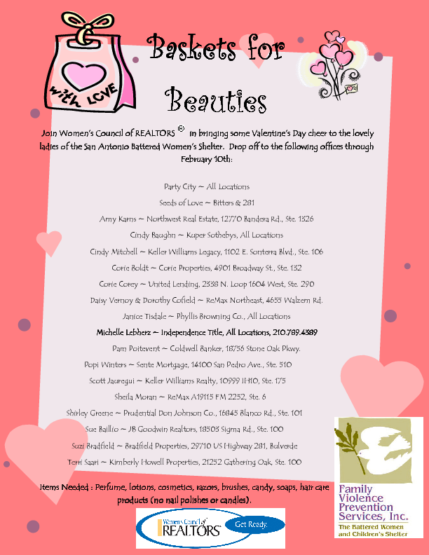 Baskets for Beauties - Drop Off Locations