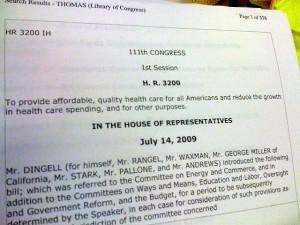 Obamacare H.R. 3200