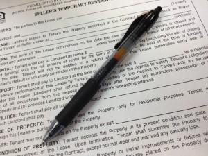 Seller's Temporary Residential Lease