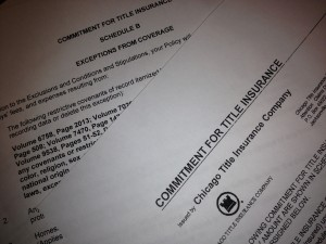 Title Commitment and Title Policy