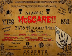 2nd Annual McScare - McNair Custom Homes and Kimberly Howell Properties